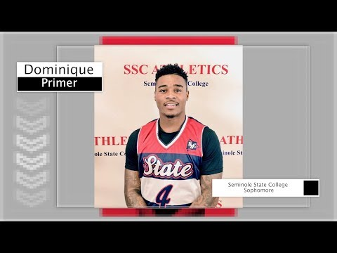 Dominique Primer | Seminole State College (OK) | Sophomore Season Highlights