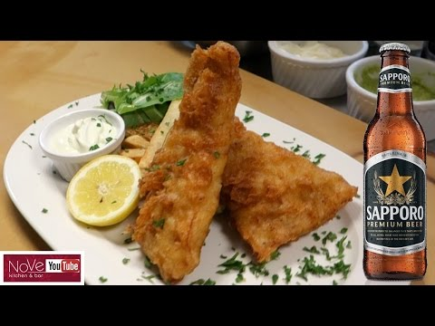 Sapporo Battered Fish & Chips With Wasabi Mayo - Japanese Inspired