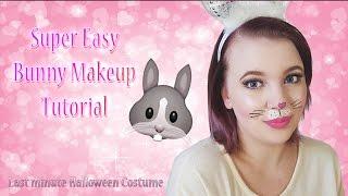Super Easy Bunny Makeup Halloween Tutorial