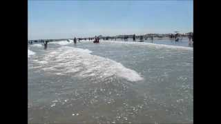 A beautiful day in Wildwood, NJ - in the ocean, on the beach - August 12, 2011