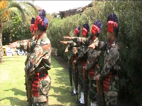 Haifa dancing Indian soldiers