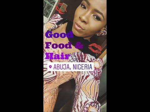 NIGERIA: ABUJA VLOG #1: natural hair salon? tulip bistro!! | AMINA MASUD