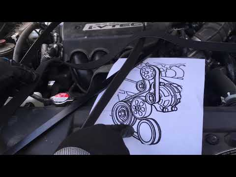 2008 Honda accord Serpentine belt replacement four-cylinder