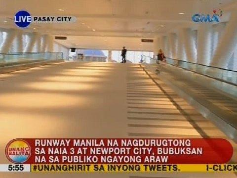 Runway Manila na nagdurugtong sa NAIA 3 at Newport City, bubuksan na sa publiko ngayong araw