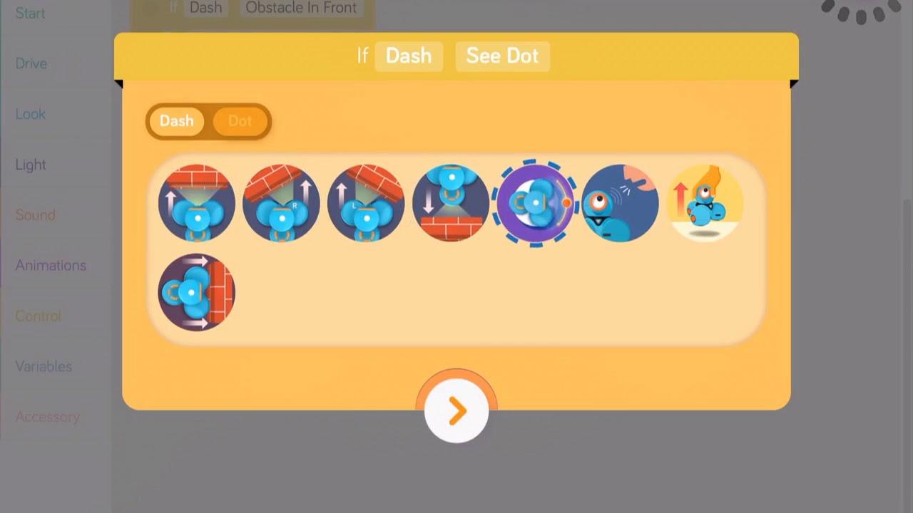 Conditionals with Dash (Blockly App)