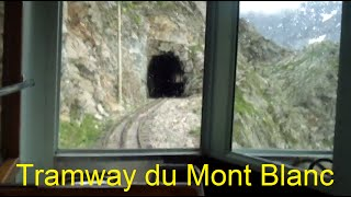 HD Alpine glacier from the Tramway du Mont Blanc train above Chamonix in the French Alps