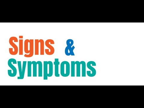 """""""Main difference between signs and symptoms""""."""