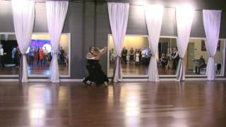 Austin Aguirre & Gioia Kersh Perform a Waltz Routine at DF Dance Studio