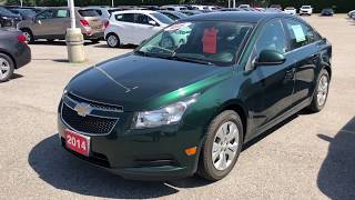 Green 2014 Chevrolet Cruze 1LT Review Oshawa ON - Roy Nichols Motors Ltd