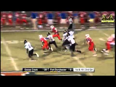 Tj Smith Of Fort Dorchester Scores On A 72 Yd Td Youtube