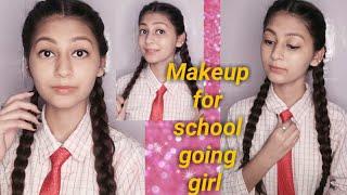 Everyday makeup for school going girl/ 5 min easy makeup ||Unique kittu