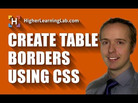 CSS Table Border Tutorial - Better Than HTML Table Borders