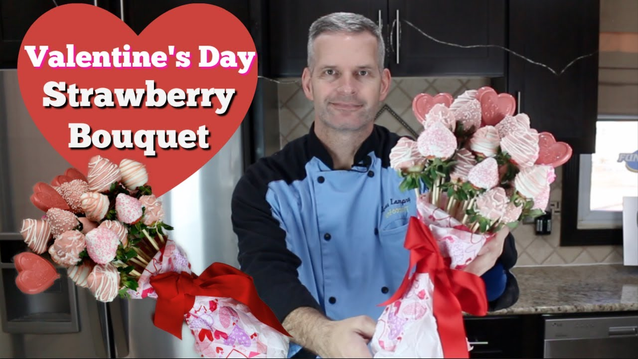 Valentine S Day Chocolate Covered Strawberries Bouquet Youtube