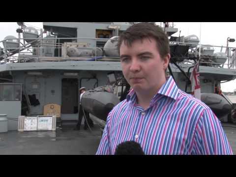 The Royal Navy's HMS Tyne Visits Liverpool