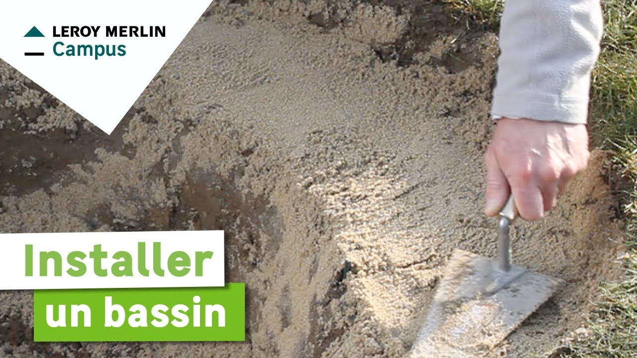 Comment installer un bassin leroy merlin youtube for Filtre pour bassin de jardin