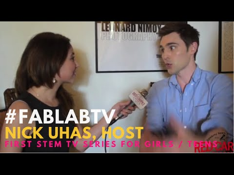 "Nick Uhas at the ""FabLab"" taping at the Archer School for Girls #?FabLabTV #?STEM"