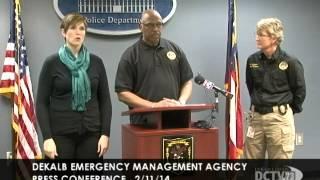 Presser - DeKalb Public Safety & Emergency Management Officials Provide Weather Update