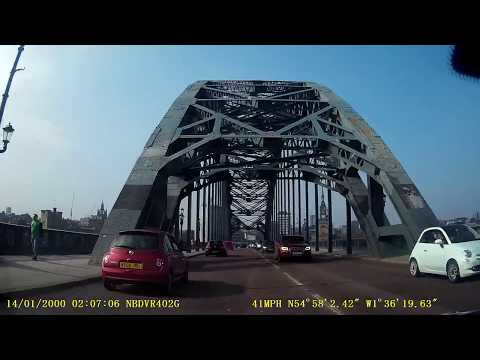 Newcastle Driving - Tyne Bridge, Central Motorway, Jesmond and Coast Road
