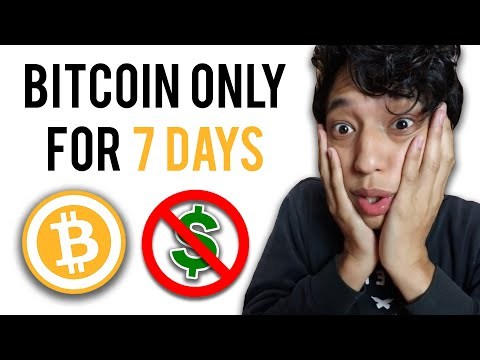 I Survived On Bitcoin For A Week - Challenge
