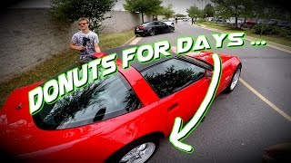 C4 Corvette Does Burnout like a BOSS!!! / First time in a Corvette