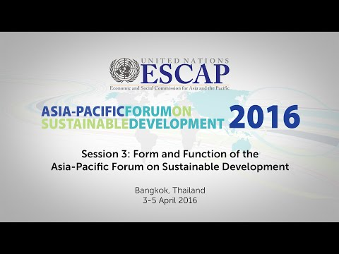 APFSD 2016: Session 3 Continued