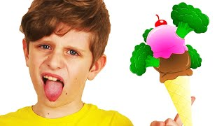 Do You Like Broccoli Ice Cream Song | Kids Songs with Yura and Dima