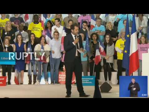 LIVE: Emmanuel Macron holds electoral rally in Marseille