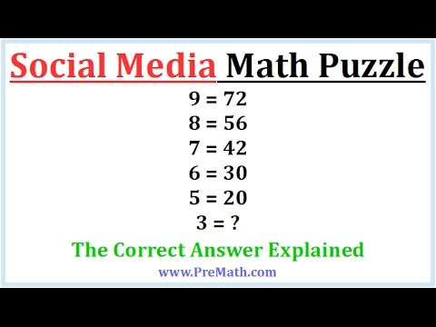social media math puzzle iq test 3 youtube. Black Bedroom Furniture Sets. Home Design Ideas