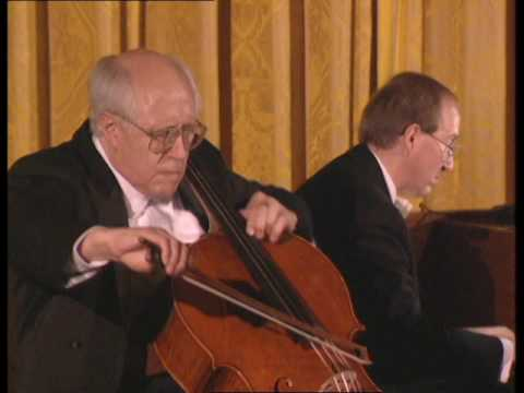 Mstislav Rostropovich Performing at the White House (1994)