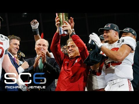 Nick Saban says the national championship win made him show more emotions than normal | SC6 | ESPN