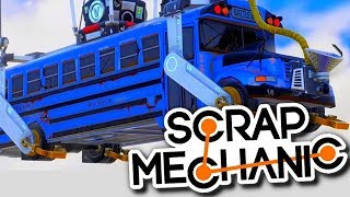 ON CONSTRUIT LE BUS FORTNITE - SCRAP MECHANIC
