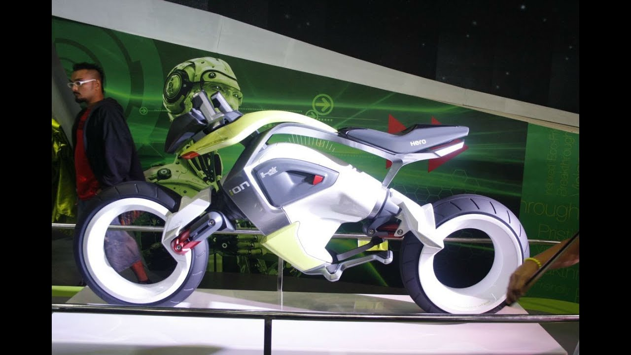 Hero Ion Concept Bike Hydrogen Fuel Cell Youtube