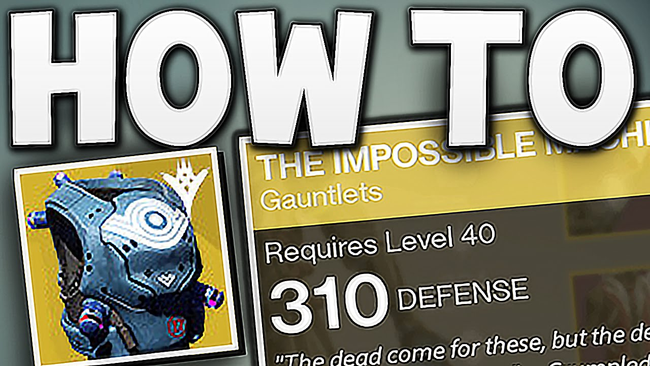Destiny how to get 310 light exotics youtube