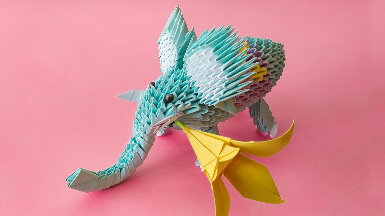 3D Origami Elephant Tutorial