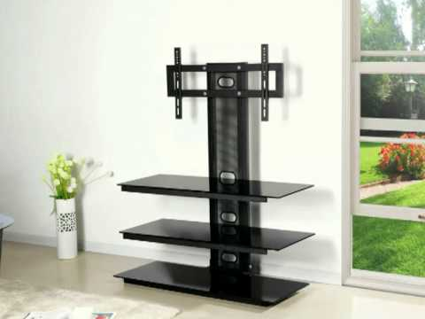 tv rack schwarz glasb den von hg versand youtube. Black Bedroom Furniture Sets. Home Design Ideas