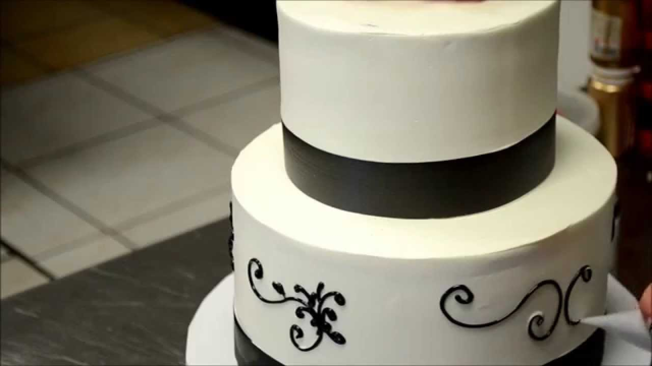 easy wedding cake designs simple wedding cake decorating tutorial how to pipe a 13841