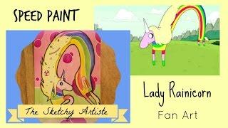 Adventure Time Fan Art : Lady Rainicorn Watercolor (speedpaint)