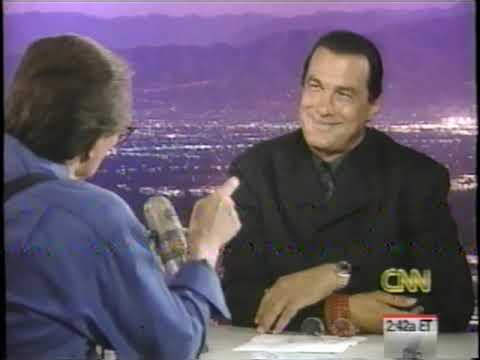 Steven Seagal on Larry King