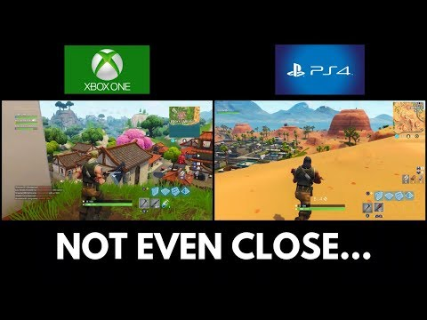 Xbox One X vs PS4 Pro... Which Console Loads FORTNITE THE FASTEST??