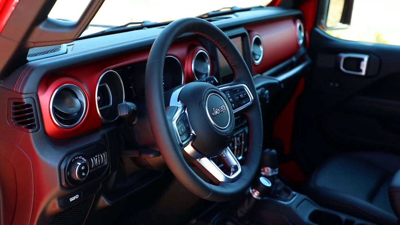 2018 Jeep Rubicon >> 2020 Jeep® Gladiator - Interior Design Feature - YouTube