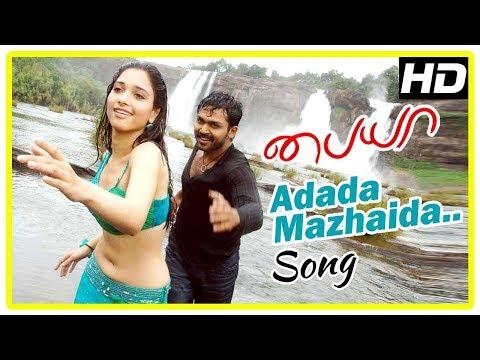 Yuvan Shankar Raja Hits | Adada Mazhada Song | Paiya Movie Scenes | Jasper spots Tamanna | Karthi