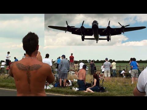 """🇬🇧 Very Low Avro Lancaster Bomber. """" Goosebumps."""""""