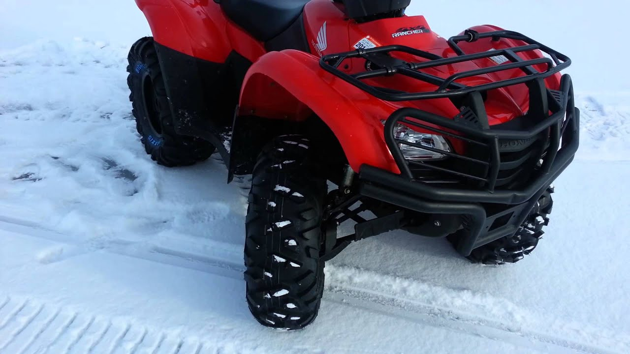 2012 Honda Rancher 420 ES- Maxxis Bighorn Tires 26' - YouTube