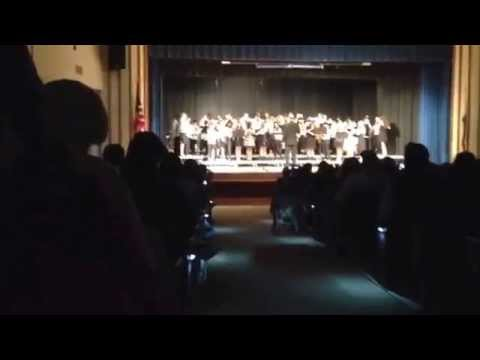 Marston middle school perform a Star Wars song