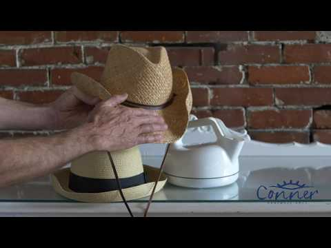 How To Steam And Reshape A Straw Hat