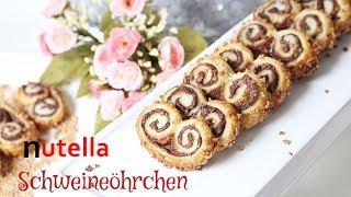 Nutella Schweineöhrchen aus Blätterteig - schnell & einfach - selber machen - Backlounge Rezept -