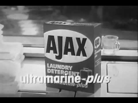 VINTAGE 1965 AJAX LAUNDRY DETERGENT with THE WHITE KNIGHT (OIL FIELD LOCATION)