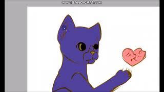 Speedpaint| Котёнок играющий с сердцем (читать описание)
