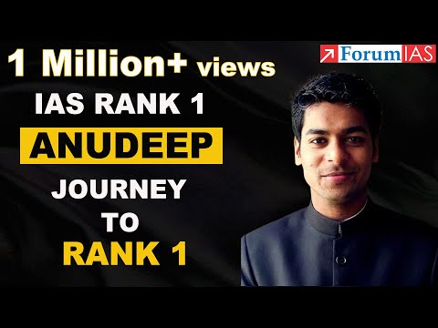 IAS Rank 1 Anudeep Shares his journey of getting Rank 1 in CSE Examination.