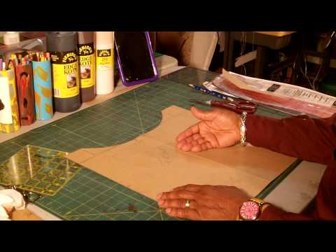 How To Make A  Leather Tote Bag With a Fabric Lining Part 1